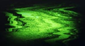 Bruit de charge statique de TV entrelacé par vert Photographie stock libre de droits