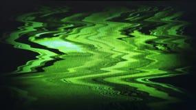 Bruit de charge statique de TV entrelacé par vert Photos libres de droits