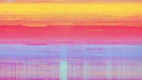 Bruit de neige de pixel de Digital d'écran de télévision banque de vidéos