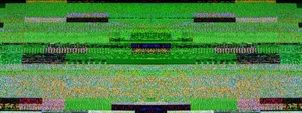 Bruit de télévision de Digital sur un grand scre futé du plasma OLED 4K TV Photo libre de droits