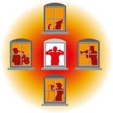 bruit windows de voisins illustration de vecteur illustration du illustration 51679530. Black Bedroom Furniture Sets. Home Design Ideas