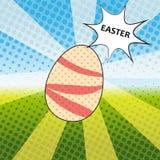 Bruit heureux Art Vector Illustration de Pâques Avec des oeufs de pâques Images stock