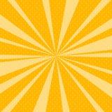 Bruit jaune Art Retro Background avec des rayons de soleil Image stock