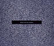 Bruit numérique noir et blanc comme fond Aucun signal sur l'affichage Image stock