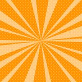 Bruit orange Art Retro Background avec des rayons de soleil Photo stock