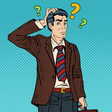Bruit songeur Art Businessman Making Decision illustration de vecteur