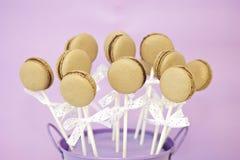Bruits de macaron de chocolat Images libres de droits