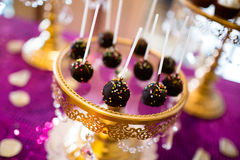 Bruits et petits gâteaux de gâteau Photo stock