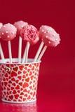 Bruits roses de gâteau Images stock