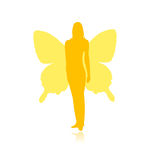 Bruja con las alas de la mariposa Foto de archivo libre de regalías