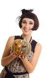 Bruja de Beautifuk con la calabaza foto de archivo