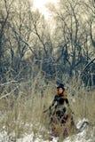 Bruja de Bizzare en el bosque Imágenes de archivo libres de regalías