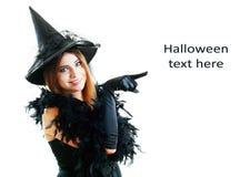Bruja de Halloween Foto de archivo
