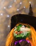 Bruja de Halloween imagenes de archivo