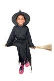 Bruja de la chica joven en Halloween Fotos de archivo libres de regalías