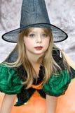Bruja de la muchacha Foto de archivo libre de regalías