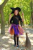 Bruja de la muchacha Imagen de archivo libre de regalías