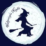 Bruja de la noche de Walpurgis Foto de archivo libre de regalías