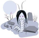 Bruja de Scolopendra en cementerio Fotografía de archivo libre de regalías