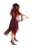 Bruja de Víspera de Todos los Santos foto de archivo libre de regalías