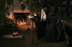 Bruja de Víspera de Todos los Santos Foto de archivo