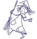 Bruja del Doodle Imagenes de archivo