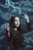 Bruja hermosa de la tormenta Foto de archivo libre de regalías