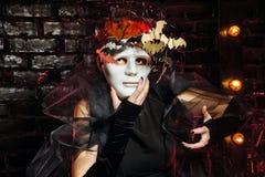 Bruja inusual Halloween Fotografía de archivo