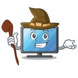 Bruja lcd TV en la forma de la mascota stock de ilustración