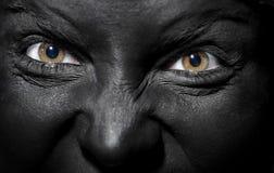 Bruja negra foto de archivo libre de regalías
