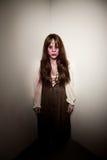 Bruja o zombi sangrienta de la aldea Foto de archivo libre de regalías