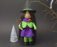 Bruja preciosa el Halloween Imagen de archivo