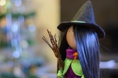 Bruja preciosa el Halloween Fotografía de archivo