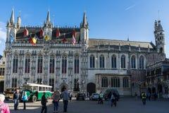 BRUJAS, BÉLGICA EUROPA - 25 DE SEPTIEMBRE: Palacio provincial en marzo Foto de archivo libre de regalías
