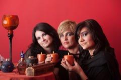 Brujas con las velas Fotografía de archivo libre de regalías