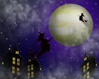 Brujas de la ilustración de Víspera de Todos los Santos Imagen de archivo