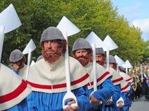 Brujas, el desfile del árbol de oro Fotografía de archivo