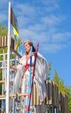 Brujas, el desfile del árbol de oro Imagen de archivo