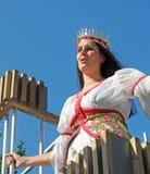 Brujas, el desfile del árbol de oro Foto de archivo libre de regalías