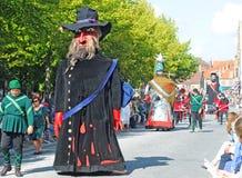 Brujas, el desfile del árbol de oro Imagen de archivo libre de regalías