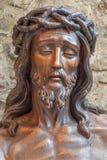Brujas - estatua de Jesús en el enlace Fotos de archivo libres de regalías