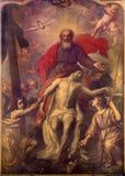 Brujas - la trinidad santa de Paulus de Decock (1724 - 1801) en la iglesia de St Giles (Sint Gilliskerk) Imagen de archivo libre de regalías