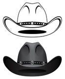 bruk för ritt för häst för cowboyhatt stock illustrationer