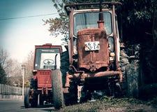 Bruka för traktormaskin royaltyfria foton