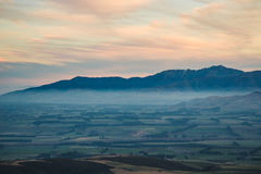 Bruka med trevlig skugga, monteringen Somers, Canterbury, Nya Zeeland Royaltyfri Bild