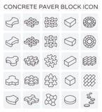 Brukarz blokowa ikona ilustracji