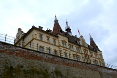 Brukenthal building in the medieval city Sighisoara Stock Photos