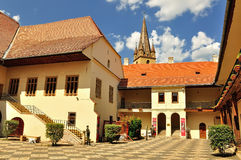 Brukenthal Museum in Sibiu, Romania. The Brukenthal National Museum was built in 1818 and housed in the palace of Samuel von Brukenthal the governor of Stock Image