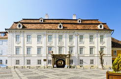Brukenthal palace in Sibiu stock photo