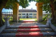 Brukenthal trädgårdar, Rumänien Arkivbilder